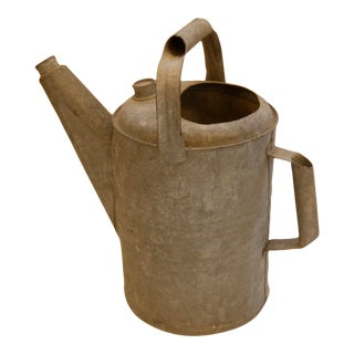 Vintage Early 20th Century Zinc Watering Can For Sale