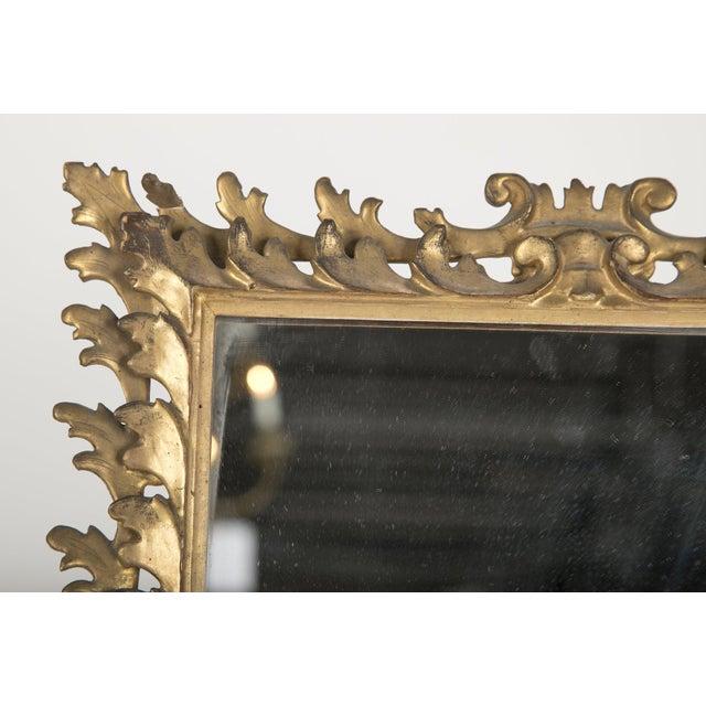 Italian Rococo Style Gilt Wood Vanity Mirror For Sale - Image 4 of 8