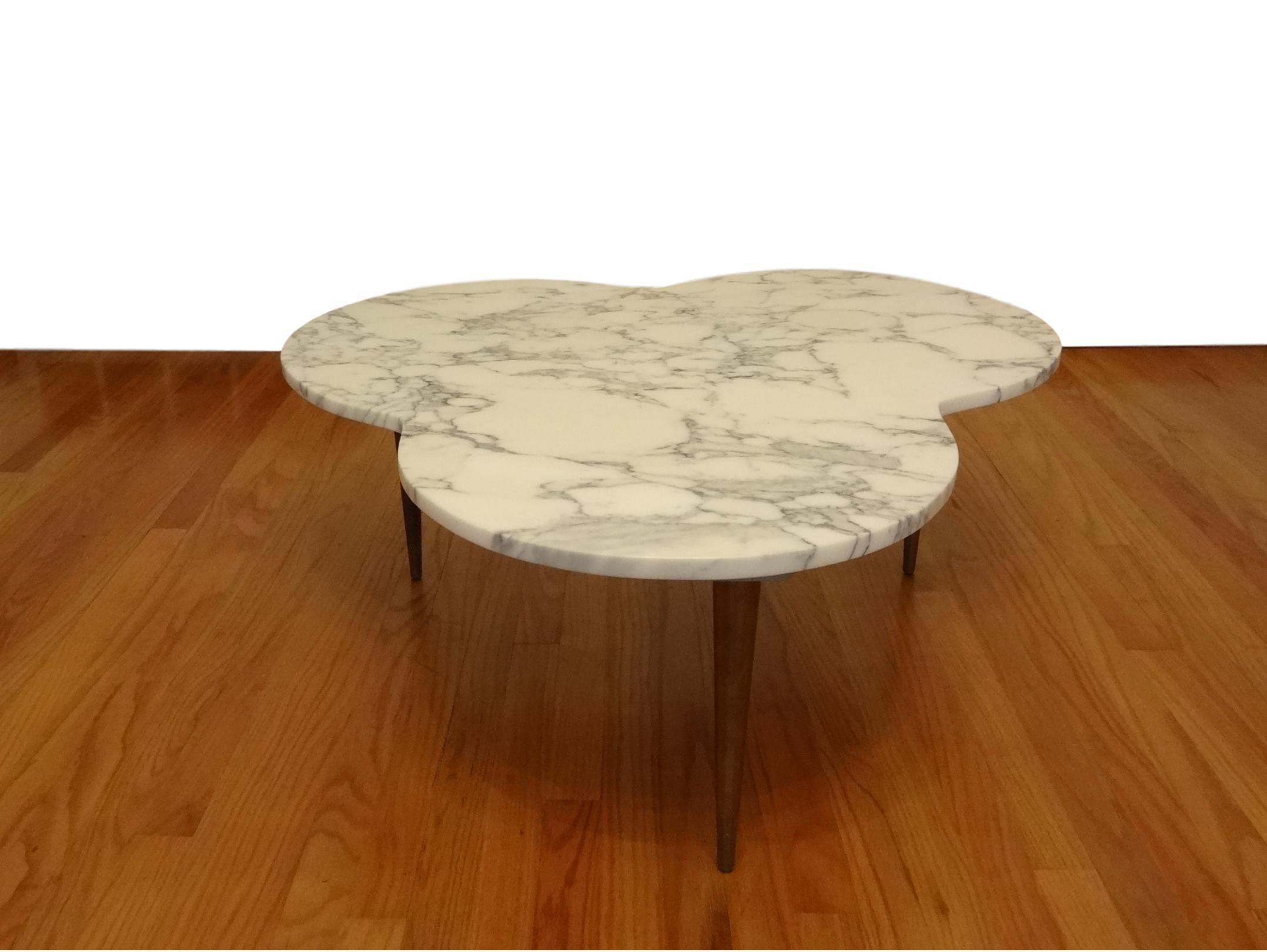 Mid Century Modern Marble Clover Coffee Table   Image 5 Of 8