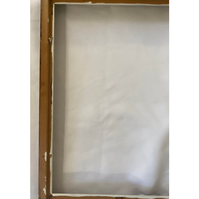 Mid 20th Century Traditional Wood Art Frame With White Accents For Sale - Image 10 of 11