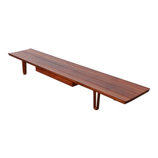 "Extra Long ""Long John"" Bench by Edward Wormley for Dunbar For Sale"