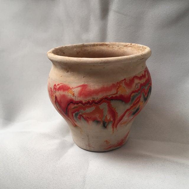 Ceramic Nemadji Red Pottery Vase For Sale - Image 7 of 9