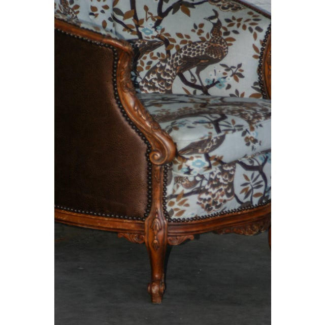 Antique Carved Barrel Chair - Image 5 of 7