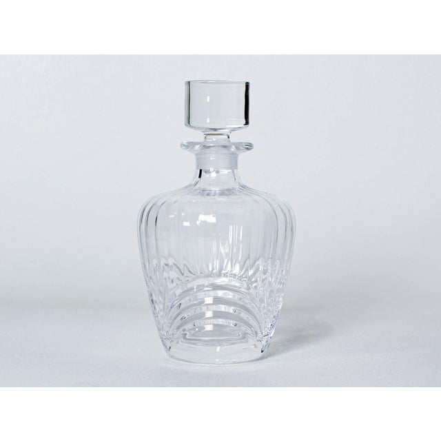 Modern Vintage Hand Cut Glass Decanter For Sale - Image 3 of 3