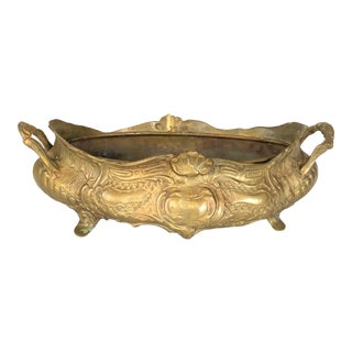 20th Century French Brass Jardinière For Sale