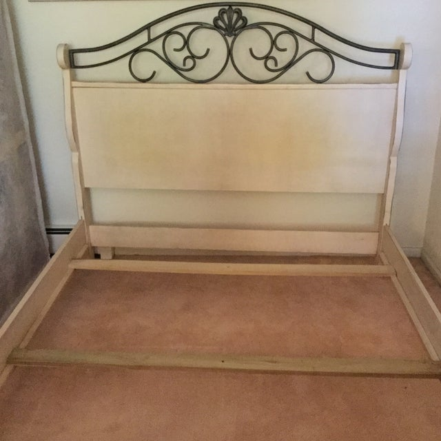 French Drexel Heritage French Countryside Queen Bed For Sale - Image 3 of 8