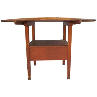 18th-Century New England Round Hutch Table For Sale
