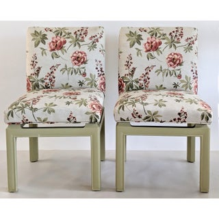 1970s Vintage Upholstered Baker Furniture Dining Chairs - a Pair Preview