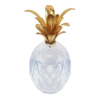 Vintage Late 20th Century Lucite & Acrylic Pineapple Ice Bucket For Sale