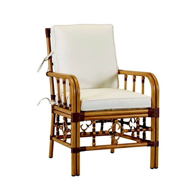 Not Yet Made - Made To Order Celerie Kemble - Mimi Outdoor Dining Arm Chair For Sale - Image 5 of 5