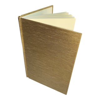 Gold Fabric Covered Journal For Sale
