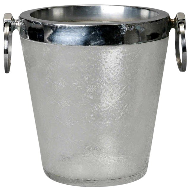Art Deco Heavy Crystal Ice Bucket For Sale