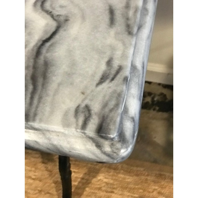 1920s 1920s French Marble Top Iron Base Console For Sale - Image 5 of 10