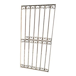 Antique Victorian Iron Gate Salvage Garden Fence For Sale