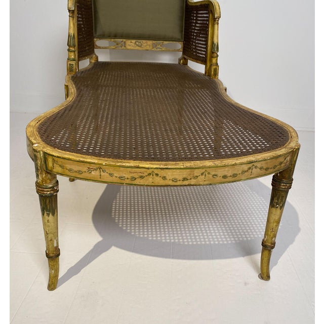 Wood Painted Fainting Chair, England Circa 1810 For Sale - Image 7 of 11