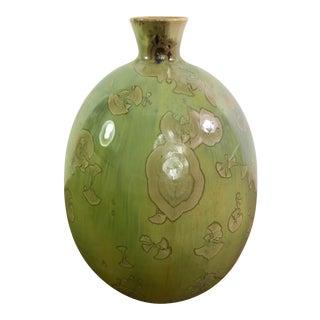 Vintage Porcelain Crystalline Glazed Studio Pottery Vessel For Sale