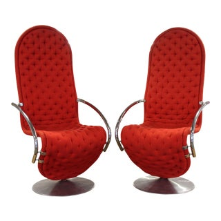Verner Panton 1-2-3 System Lounge Chairs - a Pair