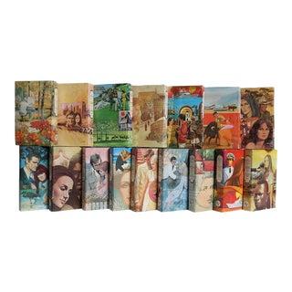 Retro Romance Novels Book Set, S/16 For Sale