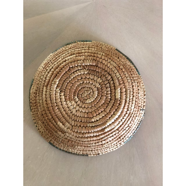 Handwoven Green Grass Basket For Sale - Image 4 of 5