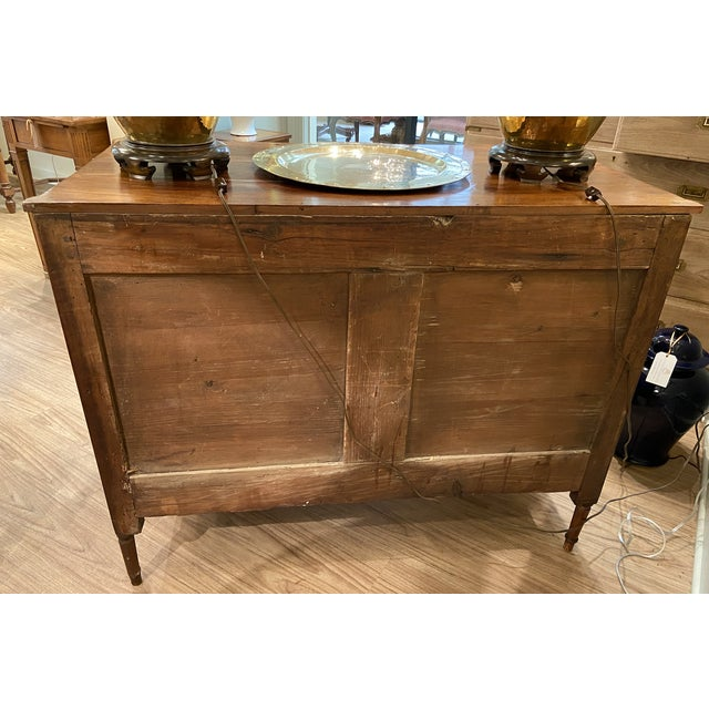Wood 19th Century French Walnut Five Drawer Commode For Sale - Image 7 of 11