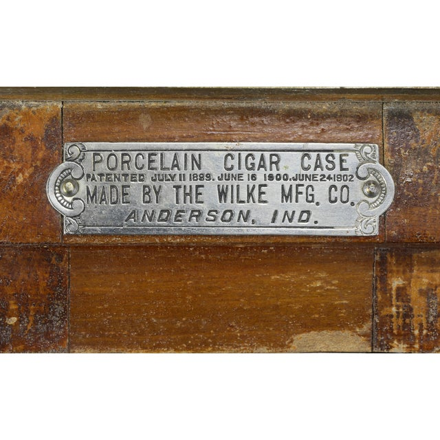 1920s Cigar Humidor in the Form of Icebox For Sale - Image 5 of 11