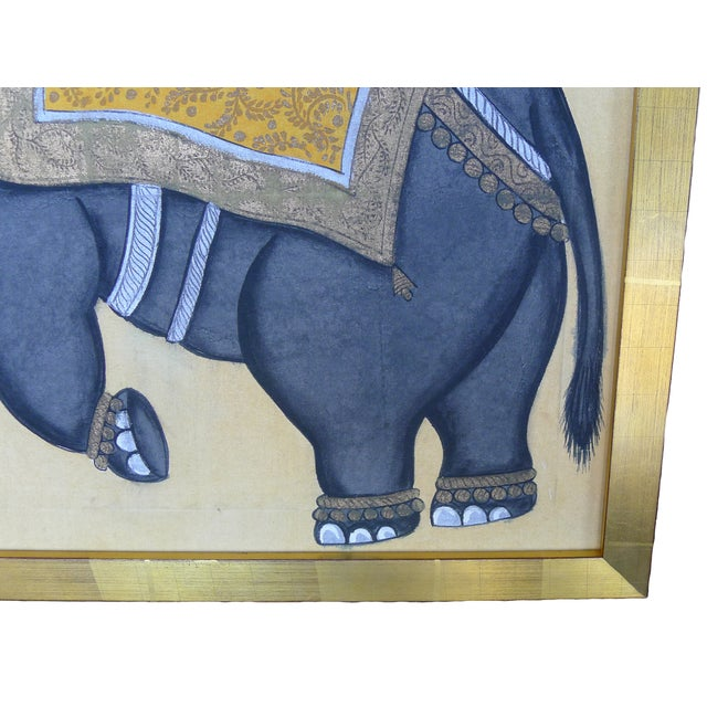 Framed Indian Elephant Painting - Image 4 of 4