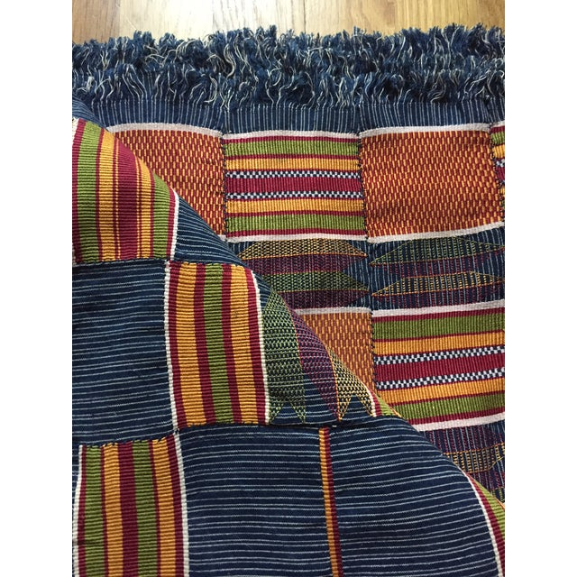 Vintage African Textile Kente Cloth Cotton Fabric / Blanket - Image 3 of 10