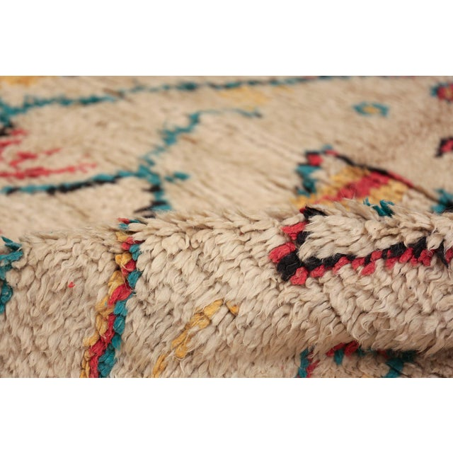 Breathtakingly colorful small size vintage Moroccan rug, country of origin / rug type: Morocco, date: circa mid-20th...