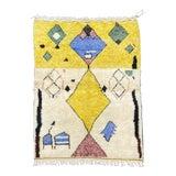 Image of Modern Azilal Berber Handmade Wool Rug For Sale
