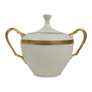 Lenox China Tuxedo Presidential Sugar Bowl & Lid For Sale