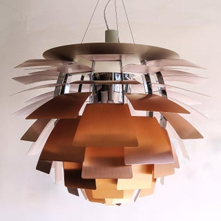 1950s Large Ph Artichoke Copper Lamp by Poul Henningsen Preview