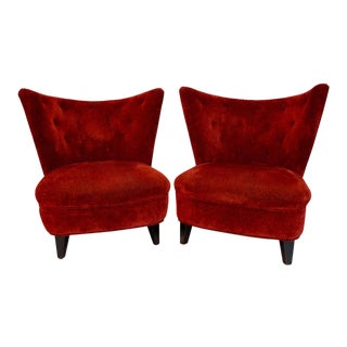1940s Lounge Slipper Chairs by Gilbert Rohde - a Pair For Sale
