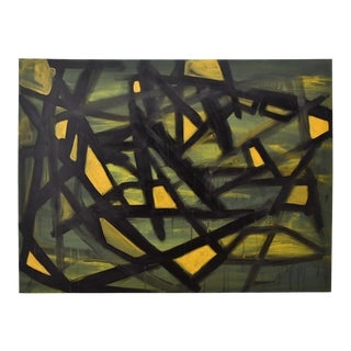 """""""Jaune"""" Acrylic on Canvas Painting For Sale"""