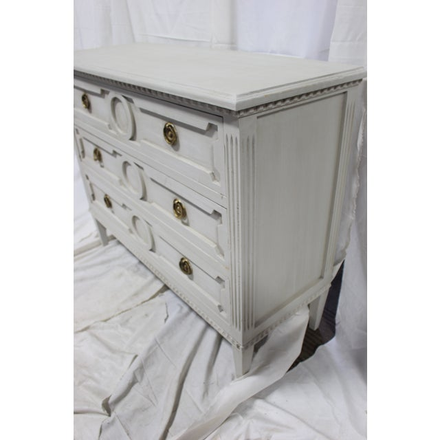 20th Century Gutavian Gray Oak Bedside Chests - a Pair For Sale In Atlanta - Image 6 of 8