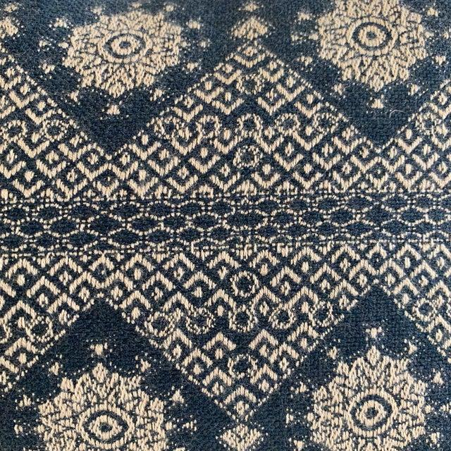 Peter Dunham Navy Blue Lumbar Pillow Cover For Sale - Image 4 of 8
