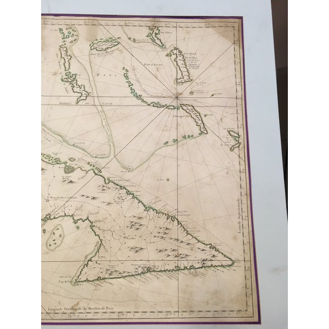 Tan 1762 Depot Des Cartes Carte Reduite De l'Isle De Cube Map of Cuba Hydrographical For Sale - Image 8 of 13