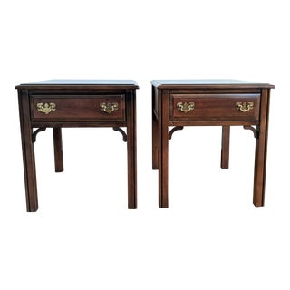 Chppendale Lane Side Tables - a Pair For Sale