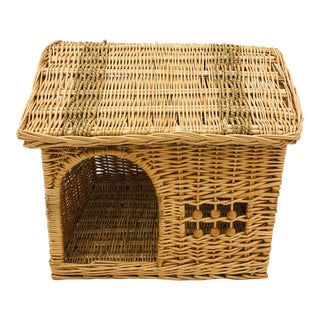 Vintage Woven Wicker House For Sale