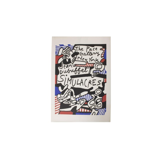 Jean DuBuffet Original Lithograph - Simulacres Pace Gallery New York For Sale