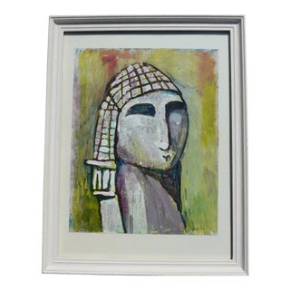 """Venus"" Contemporary Modern Mixed-Media Portrait Painting by Martha Holden, Framed For Sale"
