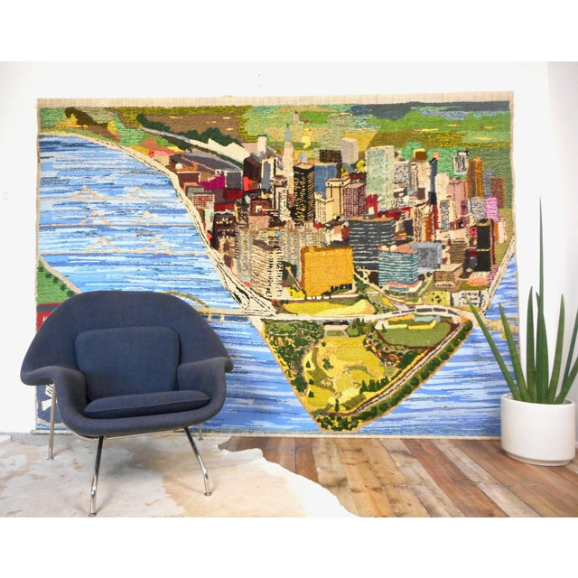 1960s 1960s Hand Woven Heinz Pittsburgh Pennsylvania Tapestry Fibre Art Wall Hanging For Sale - Image 5 of 12
