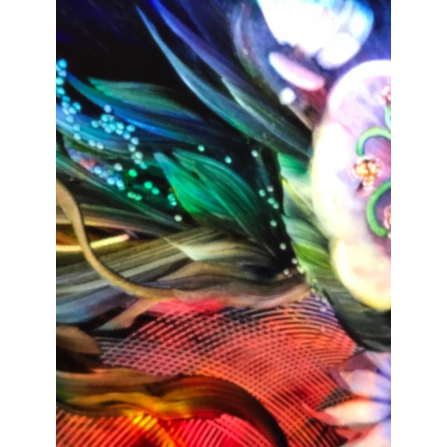 "Signed Original Ulla Darni Illuminating Flat Glass Painting ""Han and Hanini"" For Sale In New York - Image 6 of 11"