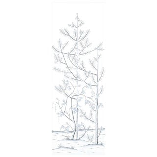 Winter Forest Hand Painted Scenic Panel For Sale
