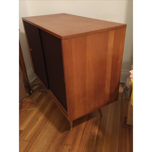 Paul McCobb Planner Group Grass Cloth Cabinet - Image 4 of 5