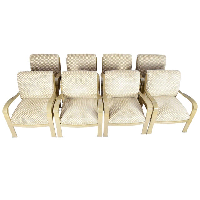 J. Robert Scott Salon Deco Lounge Chairs by Sally Sirkin Lewis- Set of 8 For Sale