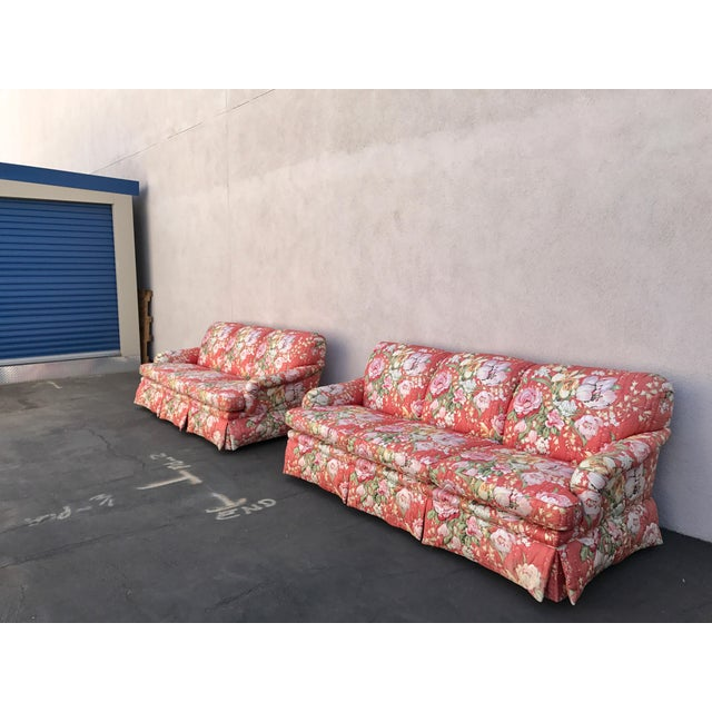 Contemporary Vintage Floral Morris James Sofas - A Pair For Sale - Image 3 of 11