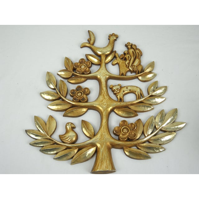 """Syroco Vintage """"Tree of Life"""" Plaque - Image 5 of 8"""
