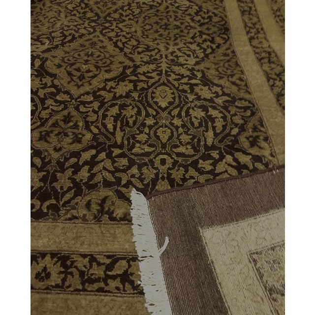 """Design Heritage Shakira Brown & Green Wool Rug - 12'2"""" x 17' For Sale In New York - Image 6 of 7"""