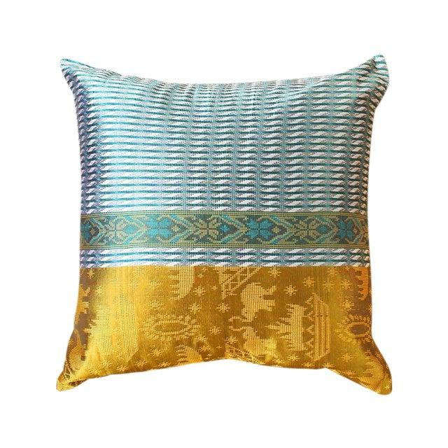 Brand New Golden Ganesh Javanese Boho Pillow - Image 1 of 7