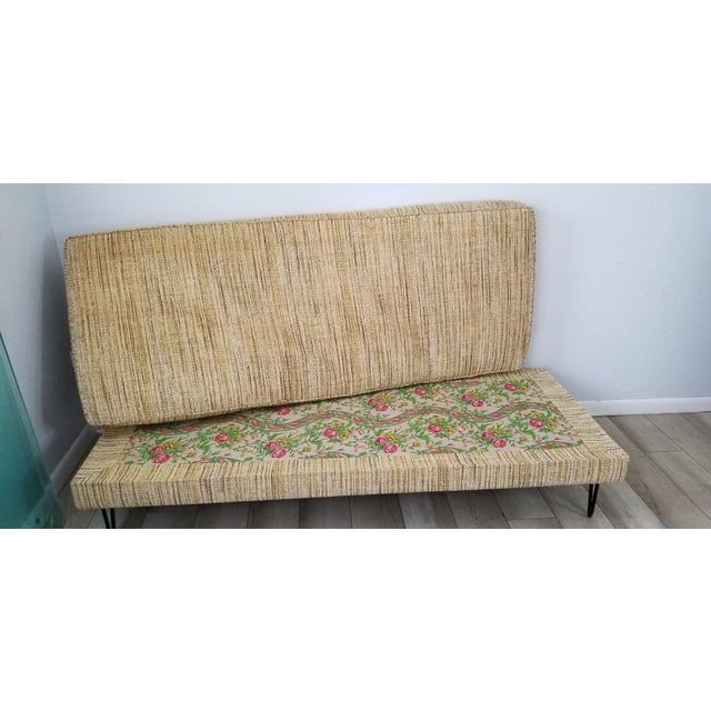 Brown George Nelson for Herman Miller Convertible Daybed Sofa With Hairpin Legs . For Sale - Image 8 of 13